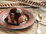 Рецепта Крем десерт панакота с какао и шоколад